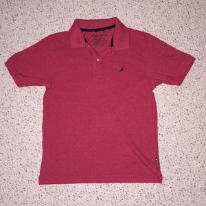 Boys Red Nautica Polo, Size 10-12